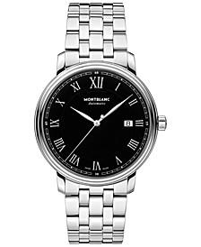Men's Swiss Automatic Tradition Date Stainless Steel Bracelet Watch 40mm