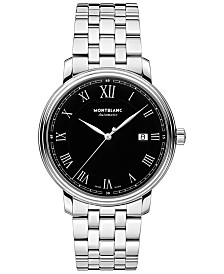 Montblanc Men's Swiss Automatic Tradition Date Stainless Steel Bracelet Watch 40mm