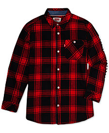 Levi's® Big Boys Plaid Woven Shirt