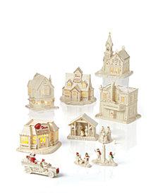 lenox mistletoe park figurine collection created for macys - Best Christmas Village Sets