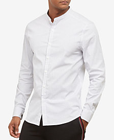 Kenneth Cole.Band Collar Shirt