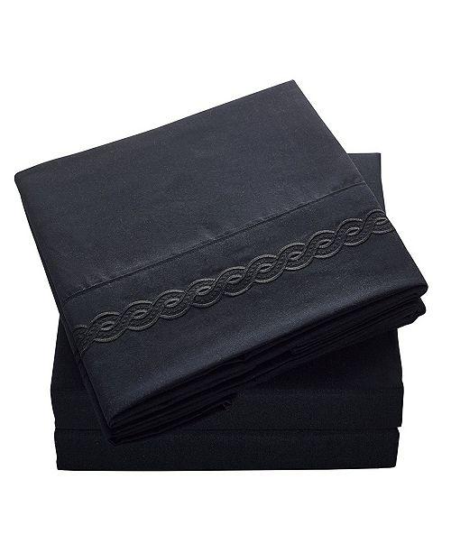 De Moocci Brushed Microfiber  Bedding - Wrinkle, Fade, Stain Resistant - Hypoallergenic