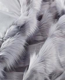 Faux Fur Throw Blanket, Super Soft Chevron Fuzzy Light Weight Luxurious Cozy