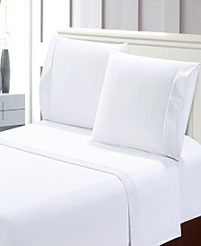 Easy Care Crinkled 4pcs Microfiber Bed Sheet Set
