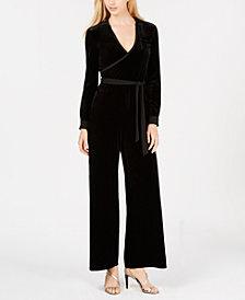 Calvin Klein Velvet Surplice Jumpsuit