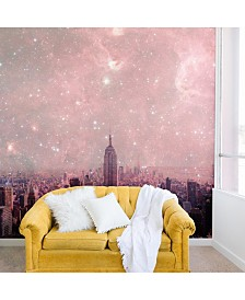 Deny Designs Bianca Green Stardust Covering New York 8'x8' Wall Mural