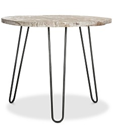 Mindy Wood Top Dining Table, Quick Ship