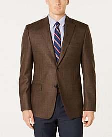Lauren Ralph Lauren Men's Slim-Fit UltraFlex Stretch Brown/Green Tic Wool Sport Coat