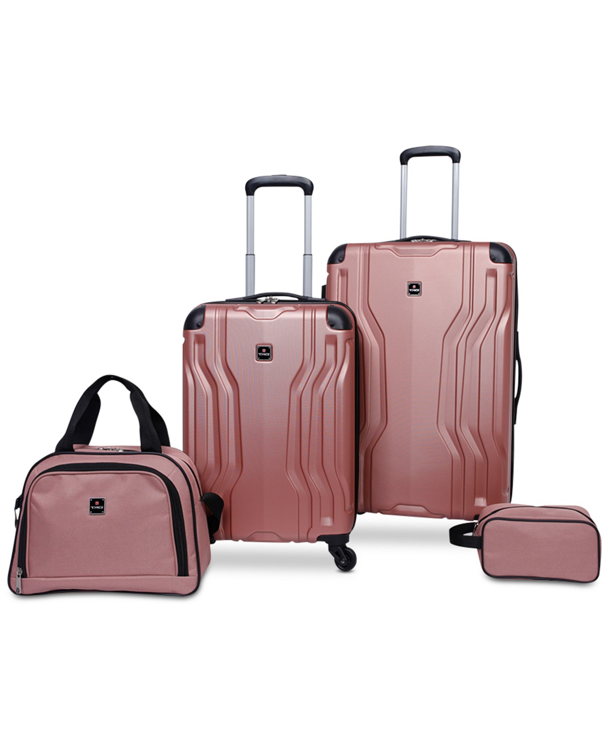 Tag Legacy 4 Piece Luggage Set (Pink)