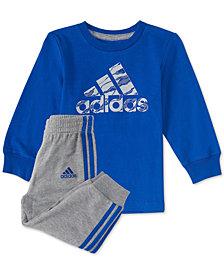 adidas Baby Boys 2-Pc. Logo Graphic Cotton Shirt & Joggers Set