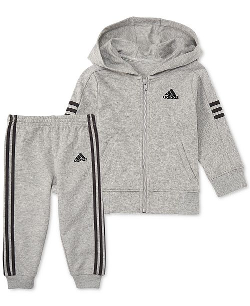 6c0cb724c9 ... adidas Baby Boys 2-Pc. Altitude Full-Zip Cotton Hoodie & Joggers ...