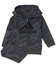 adidas Baby Boys 2-Pc. Camo-Print Hoodie & Jogger Pants Set