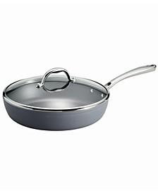 Gourmet Slate Gray 4.5 Qt Covered Deep Sauté Pan