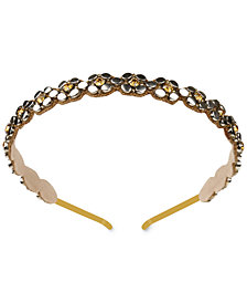 Deepa Two-Tone Crystal & Stud Headband