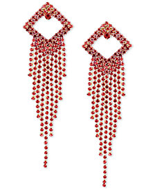 Deepa Gold-Tone Crystal Diamond & Fringe Chandelier Earrings