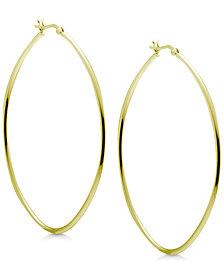 Essentials Extra Large Skinny Oval Hoop Earrings in Gold-Plate