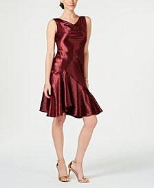 Taylor Asymmetrical Satin Slip Dress