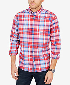 Nautica Men's Big & Tall Plaid Stretch Poplin Shirt