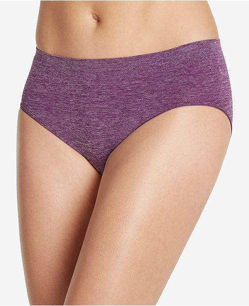 Jockey Smooth and Shine Seamfree Heathered Hipster Underwear 2187, available in extended sizes