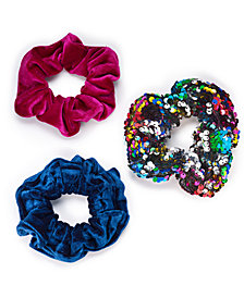 I.N.C. 3-Pc. Set Bright Hair Scrunchies, Created for Macy's