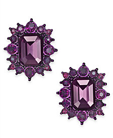 I.N.C. Hematite-Tone Colored Crystal Cluster Stud Earrings, Created for Macy's