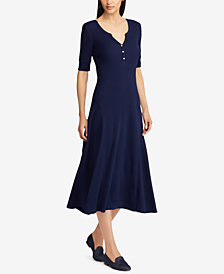 Ralph Lauren Petite Fit & Flare Cotton Dress