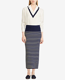 Ralph Lauren Petite Striped Skirt