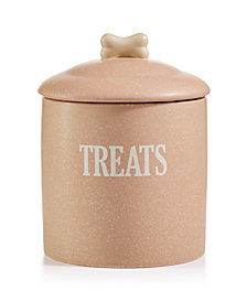 House of Barker Tan Speckled Stoneware Treat Tin