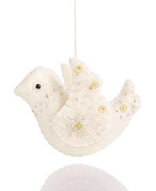 Global Goods Partners Embellished Felt Dove Ornament