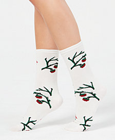 Charter Club Women's Holly Branch Crew Socks, Created for Macy's