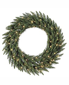 "36"" Camdon Fir Artificial Christmas Wreath with 100 Warm White LED Lights"