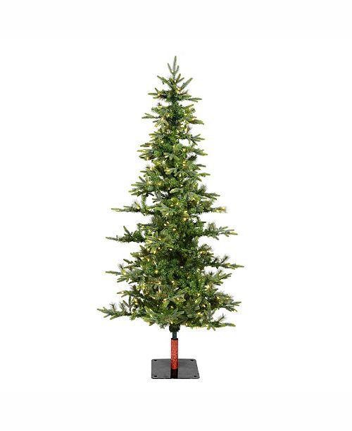 Artificial Christmas Tree With Lights.6 Shawnee Fir Artificial Christmas Tree With 250 Warm White Led Lights
