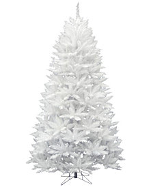 Vickerman 7.5' Sparkle White Spruce Artificial Christmas Tree Unlit