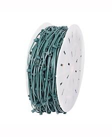 Vickerman 1000' C9 Socket String with 1000 C9 Sockets on SPT2 18 Gauge Green Wire