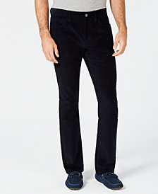Alfani Men's Navy Corduroy Pants, Created for Macy's