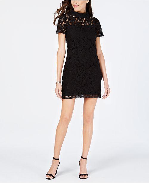 Vince Camuto High Neck Lace Shift Dress Reviews Dresses
