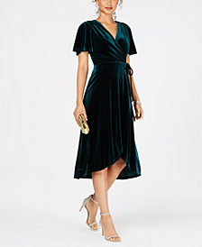 Vince Camuto Velvet Wrap Dress