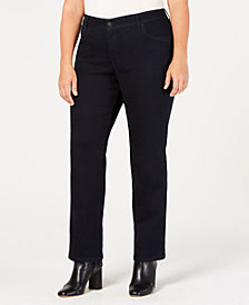 Style & Co Plus & Petite Plus Size High-Waist Straight Jeans, Created for Macy's