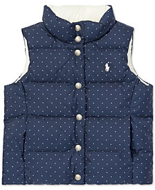 Polo Ralph Lauren Big Girls Reversible Quilted Vest