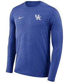 Nike Men's Kentucky Wildcats Long Sleeve Dri-FIT Coaches T-Shirt