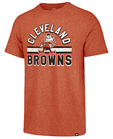 '47 Brand Men's Cleveland Browns Team Stripe Match Tri-Blend T-Shirt