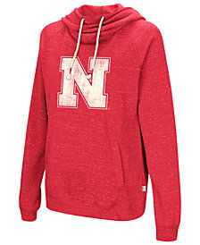 Colosseum Women's Nebraska Cornhuskers Speckled Fleece Hooded Sweatshirt