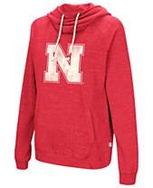 83845c9b640 Colosseum Women s Nebraska Cornhuskers Speckled Fleece Hooded Sweatshirt