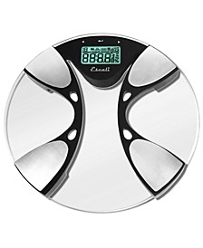 Glass Body Fat/Body Water Bathroom Scale, 440lb