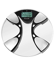 Glass Body Fat/Body Water Bathroom Scale, 440lb