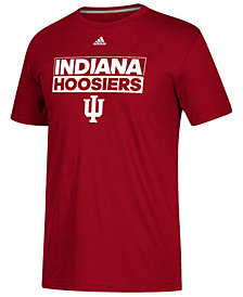 adidas Men's Indiana Hoosiers Performance Wordstack T-Shirt