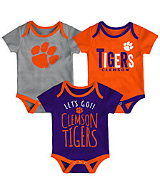 Outerstuff Clemson Tigers Lil Tailgater 3 Piece Set, Infants (0-9 Months)