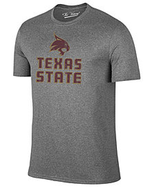 Retro Brand Men's Texas State Bobcats Alt Logo Dual Blend T-Shirt