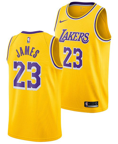 837892357fd ... Nike LeBron James Los Angeles Lakers Icon Swingman Jersey