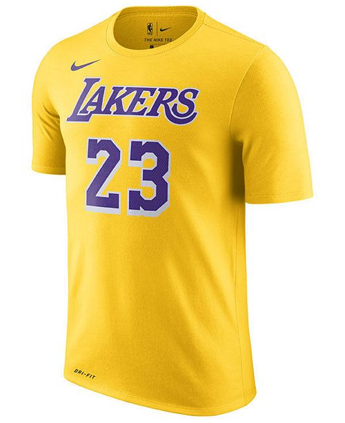 3950627f6aff Nike LeBron James Los Angeles Lakers Icon Name   Number T-Shirt